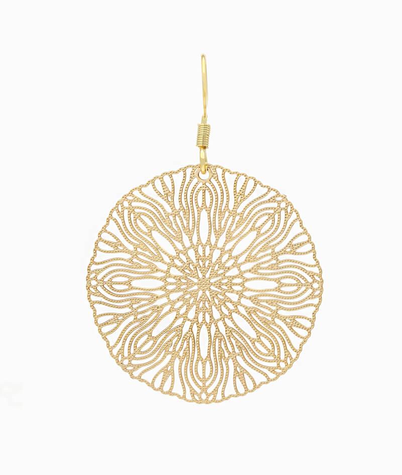 Haengeohrring El Jadida ViLou Schmuck Edelstahl Ornament Ohrring Geschenkidee Freundin gold Paar