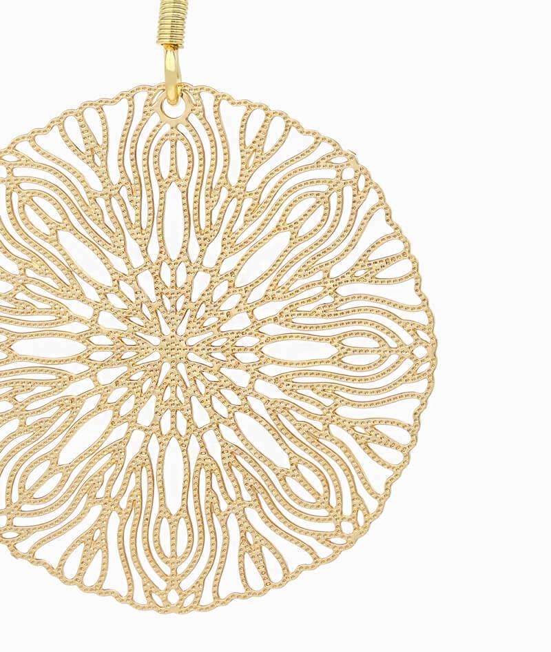 Haengeohrring El Jadida ViLou Schmuck Edelstahl Ornament Ohrring Geschenkidee Freundin gold