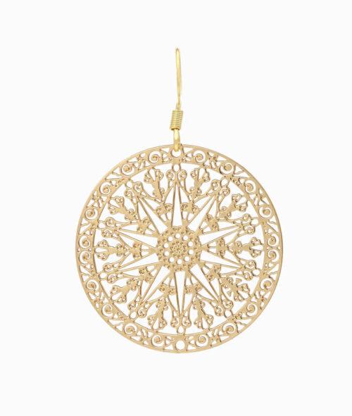 Haengeohrring Paar ViLou Schmuck Edelstahl Ornament Ohrring Geschenkidee Freundin gold
