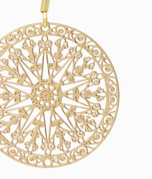 Haengeohrring ViLou Schmuck Edelstahl Ornament Ohrring Geschenkidee Freundin gold
