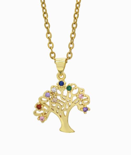 Schmuck ViLou Kette mit Baum gold ViLou
