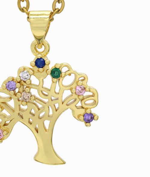 Schmuck ViLou Kette mit Baum gold ViLou nah neu
