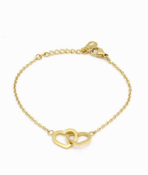 Armband Gold mit Herz Charm ViLou