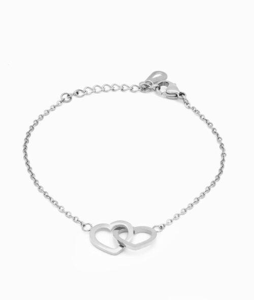 Armband silber mit Herz Charm ViLou