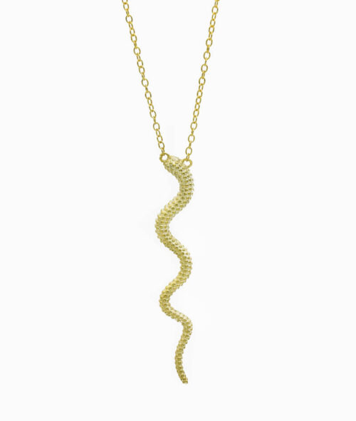 Kette ViLou in Gold mit Schlangenanhänger