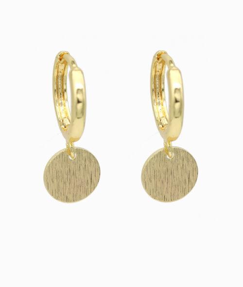 Ohrring ViLou gold Schmuck Platte Neu