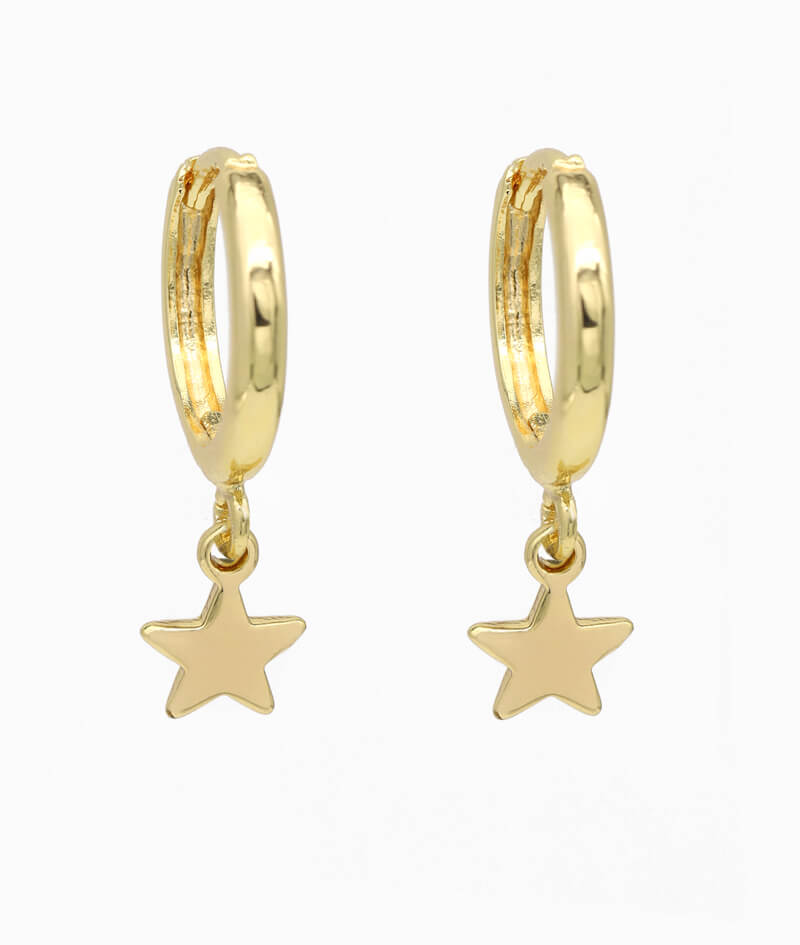 Ohrring ViLou gold Schmuck Stern