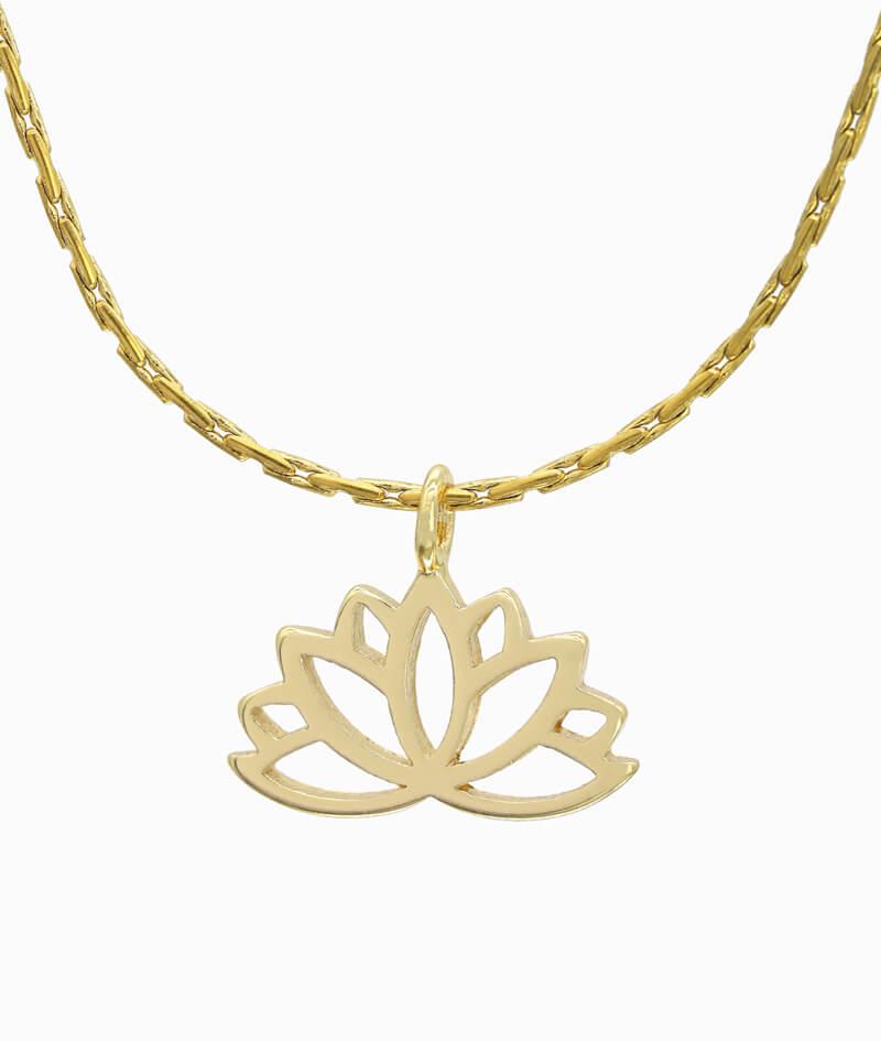 Schmuck ViLou Kette in Gold mit Lotusblumenanhänger ViLou