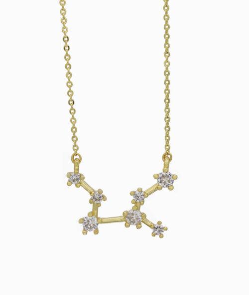 Sternzeichen Kette Jungfrau ViLou Schmuck gold