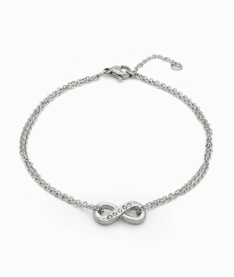 ViLou Armband Silber mit Unendlichkeit Charm Edelstahl ViLou