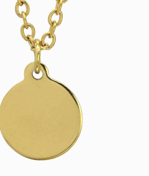 Goldene Kette mit Coin Anhänger ViLou nah