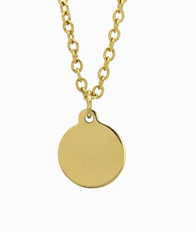 Goldene Kette mit Coin Anhänger ViLou
