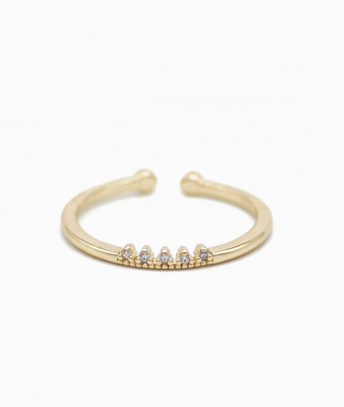 ViLou Ring Mini Crown 18K vergoldet