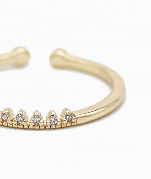 ViLou Ring Mini Crown 18K vergoldet Nahaufnahme