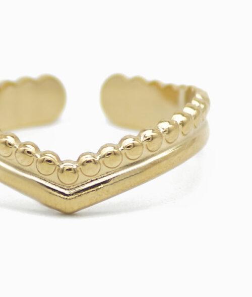 ViLou Ring heart shape New York vergoldet Instagram
