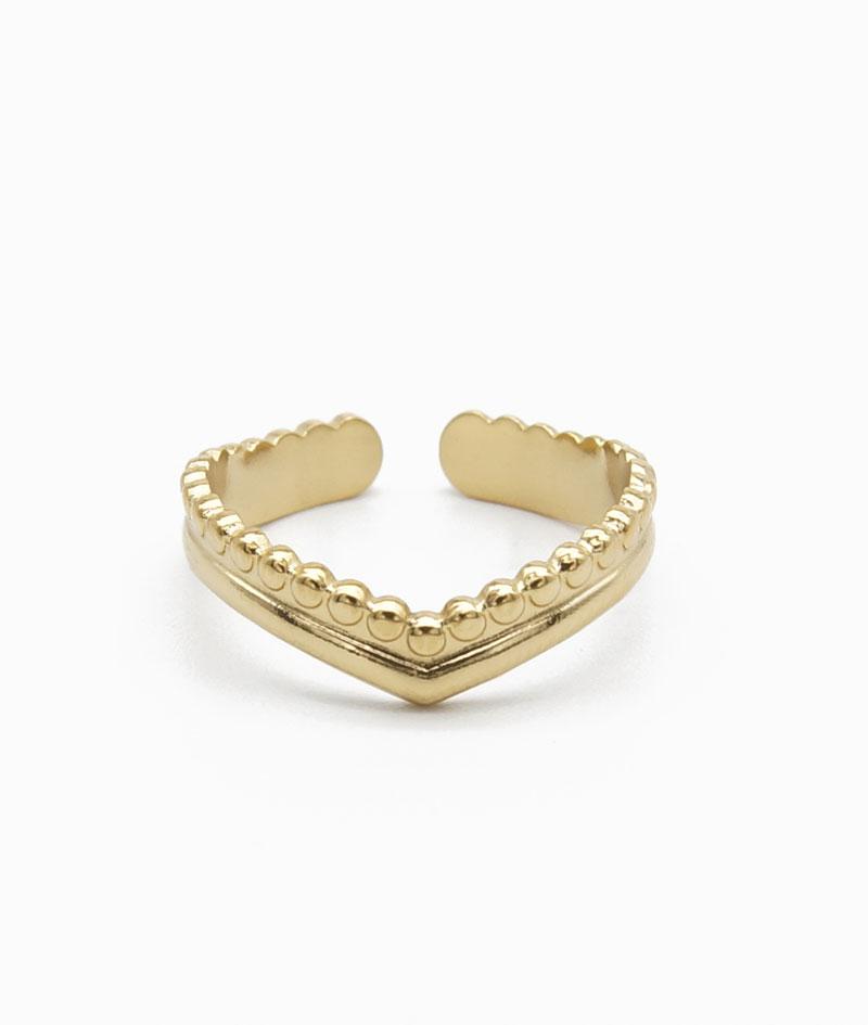 ViLou Ring heart shape New York vergoldet