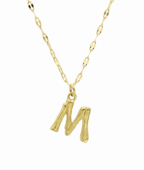 Buchstaben Kette ViLou Schmuck Geschenkidee Jewelry M vergoldet