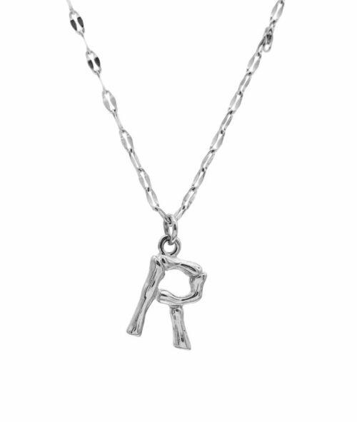 Buchstaben Kette ViLou Schmuck Geschenkidee Jewelry R silber