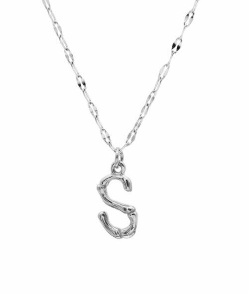 Buchstaben Kette ViLou Schmuck Geschenkidee Jewelry S silber