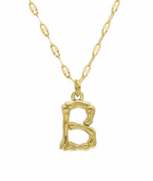 Buchstaben Kette ViLou Schmuck Geschenkidee Jewelry vergoldet B