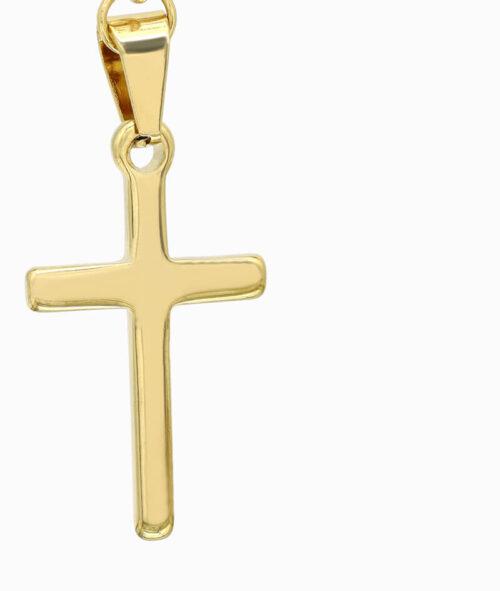 Y-Kette Gold mit Kreuz Anhäger ViLou nah
