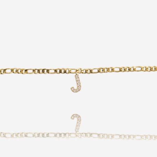 Armband mit Buchstaben j in gold ViLou