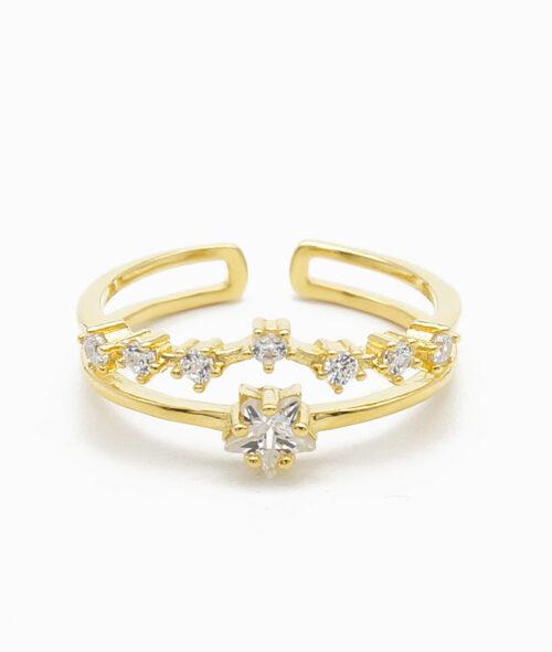 Ring in gold mit Sternzeichen