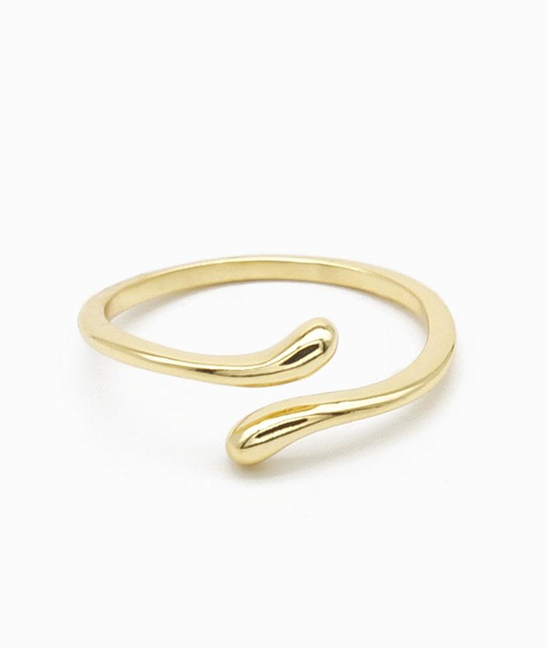 Ring ViLou gold Sterling Silber 925 schlange snake