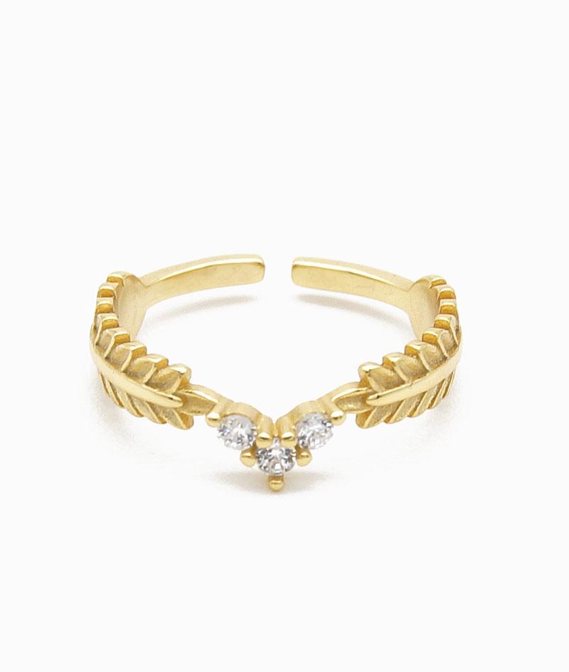 Ring greece gold Sterling Silber 925er zirkonia vilou
