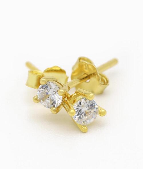 Ohrstecker Ohrring ViLou Schmuck gold und silber Sterling silver Geschenkidee Freundin