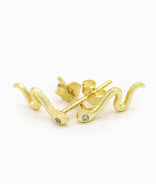 Ohrstecker ViLou Schmuck Jewelry Africa Snake 925er Sterling Silber gold nah Geschenkidee Paar