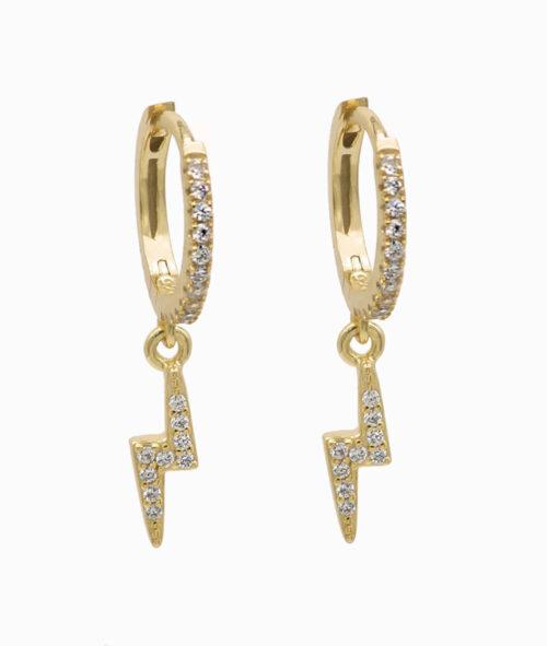 ViLou Kreolen sterling silver gold silber zirkonia blitz flash schmuck Geschenkidee