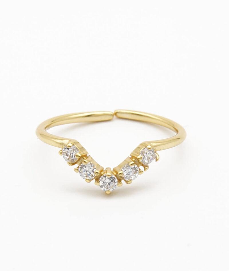 Ring greece gold Sterling Silber 925er zirkonia ViLou Schmuck
