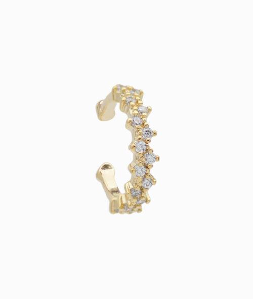 ViLou Schmuck Ear Cuff Venedig Sparkle Gold Silber Zirkonia Steine