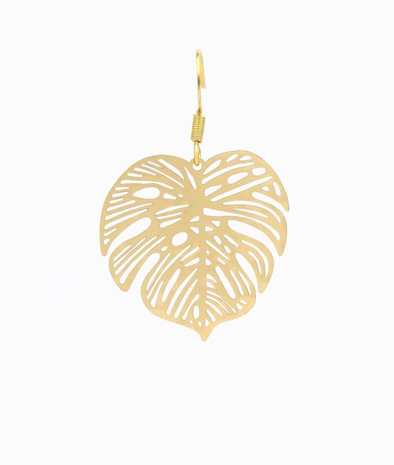 ViLou Schmuck Ohrring Haenge Ohrring gold Edelstahl filigran Geschenkidee Freundin Paar Liebe Ornament