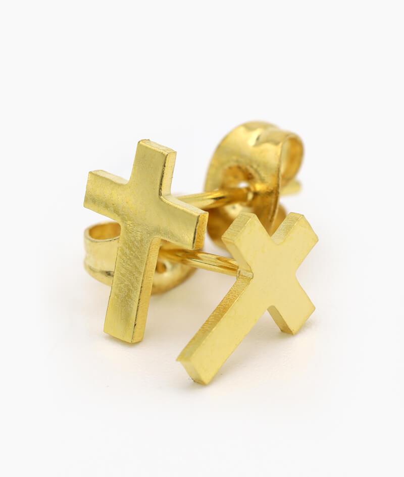 ViLou Schmuck Ohrstecker Edelstahl Kreuz Form Paar