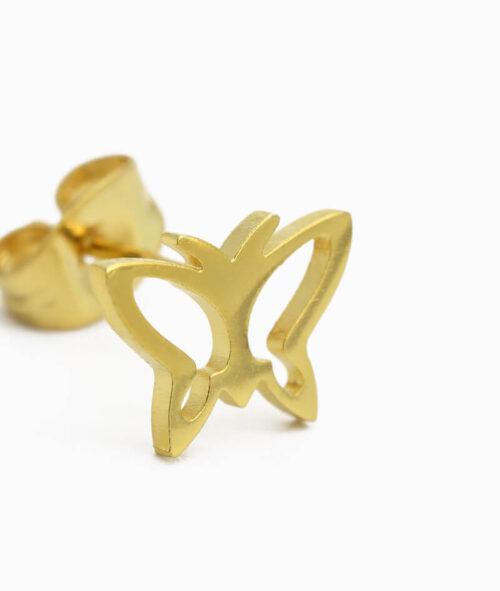 ViLou Schmuck Ohrstecker Schmetterling gold Edelstahl Geschenkidee