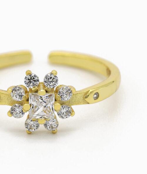 ViLou Schmuck Ring 925er Sterling Silver Flores Zirkonia Steine Geschenkidee gold nah silber