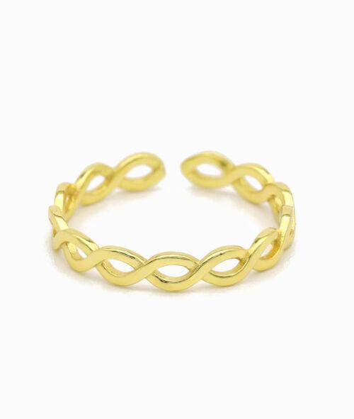 ViLou Schmuck gold Ring 925er Sterling Silver silber infinity gold Geschenkidee