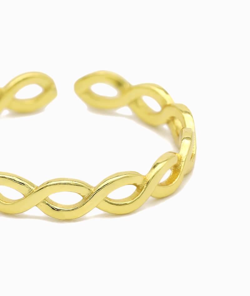 ViLou Schmuck gold Ring 925er Sterling Silver silber infinity gold Geschenkidee nah
