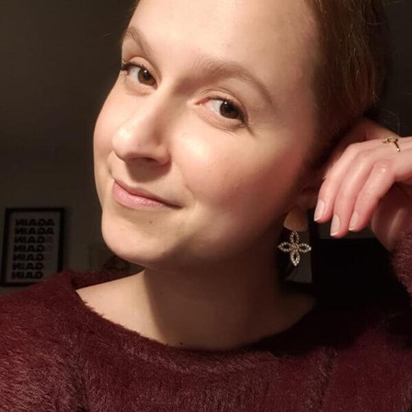 Ohrringe mit Steinchen gold ViLou LookBook