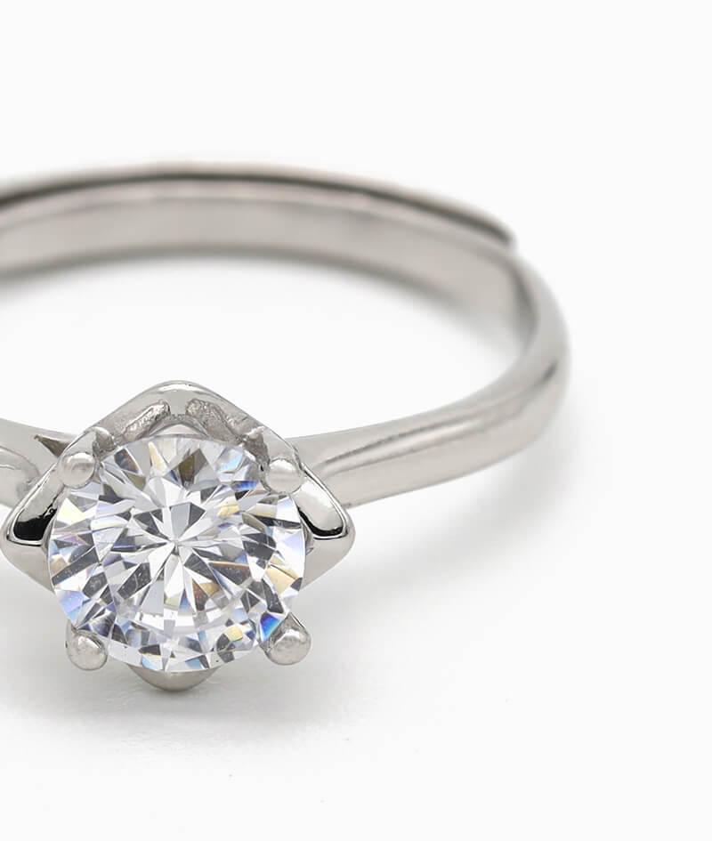 ViLou Ring 925er Sterling Silver Paris Yes Verlobungsring silber