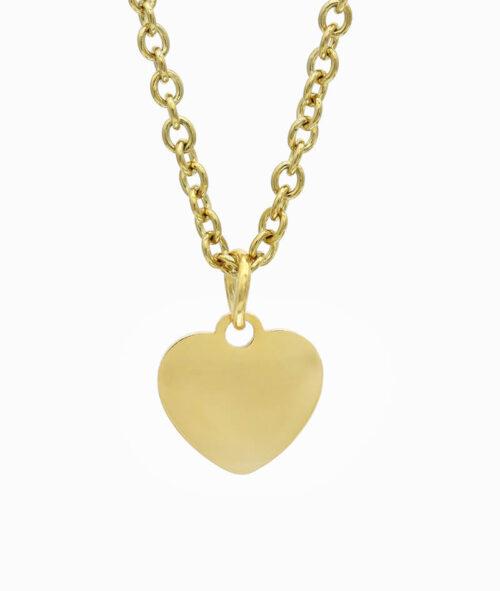 ViLou Schmuck Geschenkidee Kette Gold Herz Liebe Freundin Jahrestag Valentinstag Geschenkidee gold fern