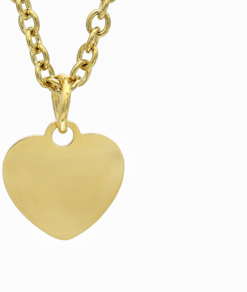 ViLou Schmuck Geschenkidee Kette Gold Herz Liebe Freundin Jahrestag Valentinstag Geschenkidee gold