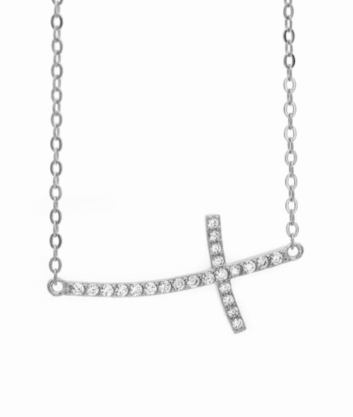 ViLou Schmuck Sterling Silver Kette Kreuz Cross Geschenkidee Freundin Jahrestag