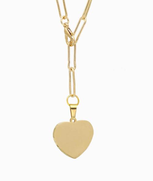 Y-Kette Gold mit Herz Anhäger ViLou