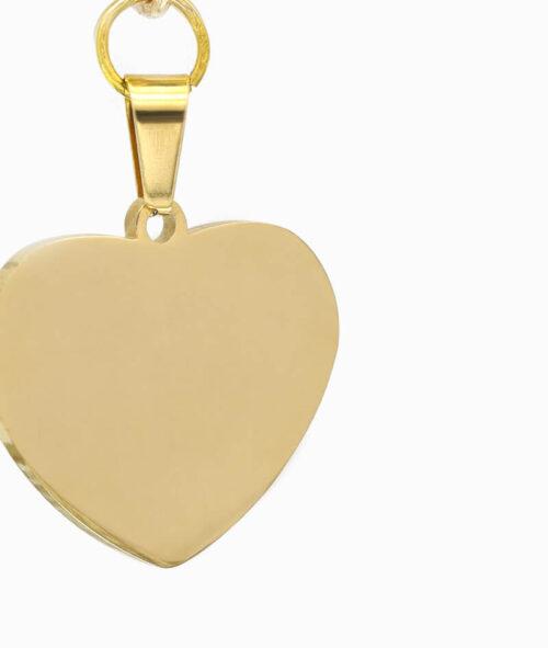 Y-Kette Gold mit Herz Anhäger nah ViLou