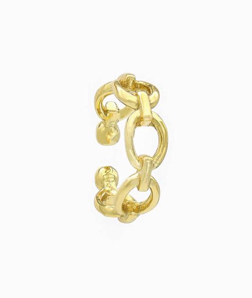 EarCuff Gold Geschenkidee für Freundin Frau gold Sterling Silber chain