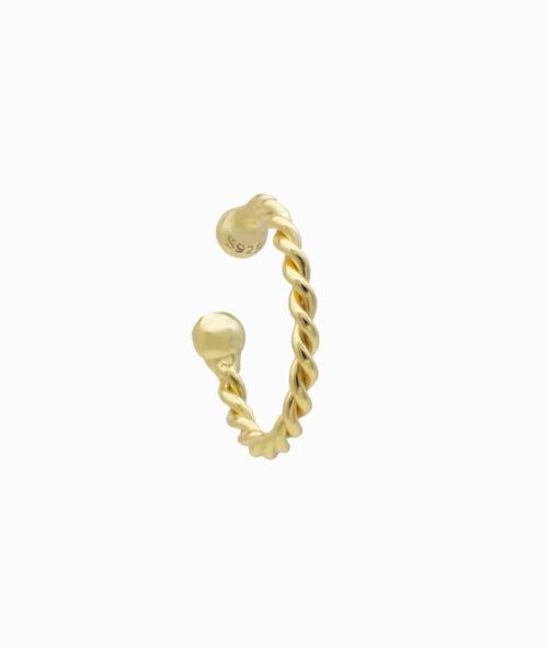 Ear cuff gold twisted 925er sterling silber verdreht hochwertig schmuck geschenkidee ohrklemme