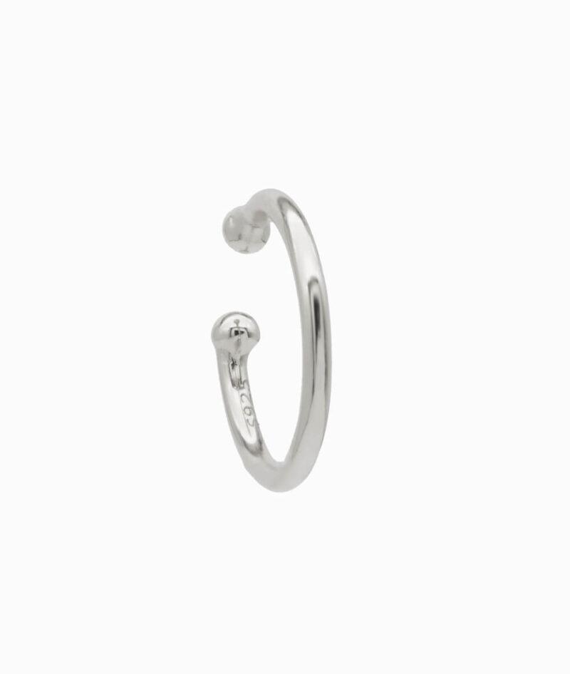 Ear cuff silber basic stilvoll klein 925er sterling silber verdreht hochwertig schmuck geschenkidee ohrklemme